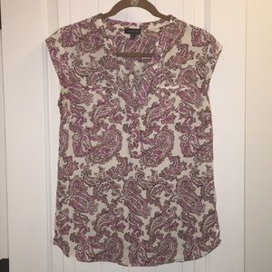 The Limited patterned cap sleeve blouse
